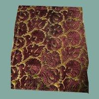 16 th century Italian chiselled velvet fragment .Florentine .
