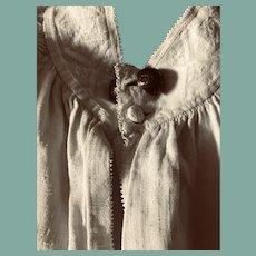 Circa 1770.Mens linen shirt .Dutch