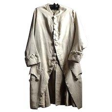 18 th century silk frock coat.Mens . English