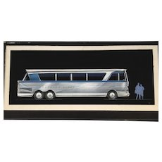 Side Elevation of a prototype bus design for Greyhound