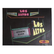 Marquee design for the Los Altos Theater - Los Altos California