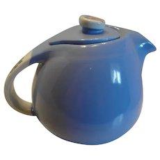 Hall Pottery Rose Parade China Teapot, Art Deco Streamline
