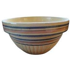 Large Stoneware Yellow Ware Mixing Bowl