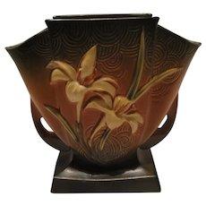 Roseville Pottery Zephyr Lily Fan Vase.