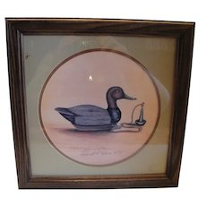 Another Daniel L. Heuer, Duck Decoy Print, Michigan Wildlife