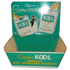 1952 Kool Cigarette Match Holder Advertisement