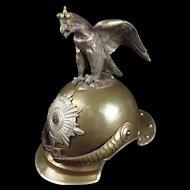 Prussian Garde Du Corps Enlisted Mans Helmet Jaeger Stamped