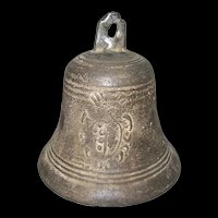 18th Century Italian Bronze Bell With  Medici Coat Of Arms