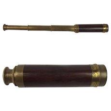 Victorian Three Draw Pocket Telescope