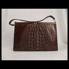 Vintage Crocodile Skin Ladies Handbag
