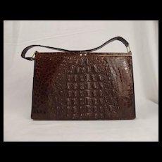 Vintage Crocodile Skin Ladies Handbag