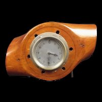 Converted Wooden Propeller Hub Clock