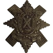 Circa 1909-1920 WW1 Era Highland Cyclist Battalion Cap Badge #1