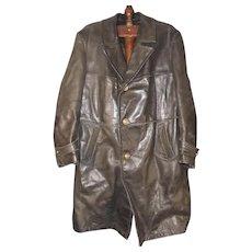 WW2 German Navy Leather Great Coat
