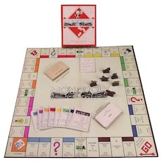 Vintage Monopoly Board Game (Complete) c1940's