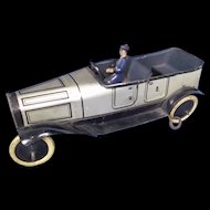 c1915 Burnett Tinplate Touring Car & Chauffeur