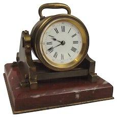 French Brass Mortar Clock Circa 1850