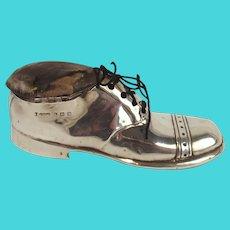 Circa 1911 Silver Shoe Pin Cushion