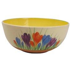 Circa 1930's Clarice Cliff Autumn Crocus Pattern Bowl