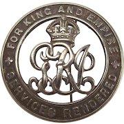 WW1 Silver Wound Badge – No. 397318 – Robert Donald