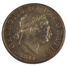 1817 George III Half Crown Coin