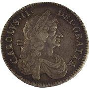 1671 Charles II Half Crown