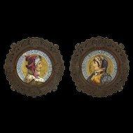 Lucrezia & Giovanni Borgia Victorian Large Iron Framed Plates