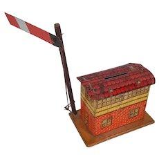 c1930 Distler Of Germany Tinplate Signal Box Money Bank