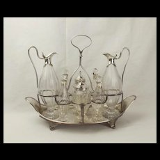 George III Silver Eight-Bottle Cruet Stand - 1788 William Stroud