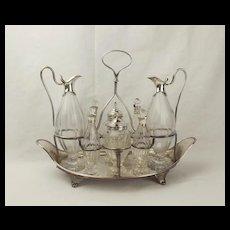 George III Silver Eight-Bottle Cruet Stand - 1788 William Stroud