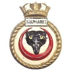 WW2 HMS Saumarez - Sunk The Scharnhorst - Aluminium Ships Gun Tompion