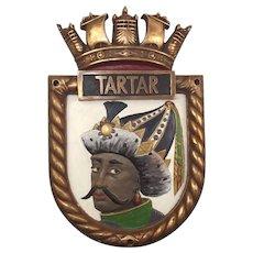 HMS Tartar Bronze Ships Crest
