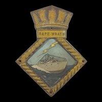 HMS Cape Wrath Bronze Ships Boat Badge
