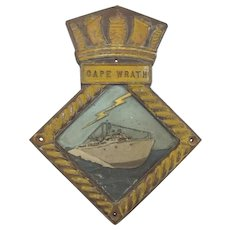 HMS Cape Wrath Bronze Ships Boat Badge
