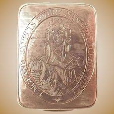 1805 Nelson HMS Victory George III Silver Vinaigrette By Hart & Co