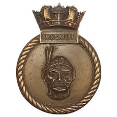 HMS Rangatira Bronze Ships Boat Badge Falklands War Support Ship