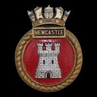 WW2 HMS Newcastle Bronze Ships Boat Badge Town Class Light Cruiser
