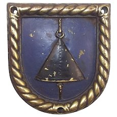 WW2 HMS Stormcloud Bronze Boats Badge 1944 Minesweeper