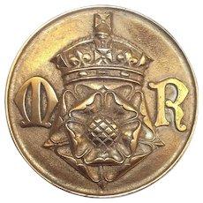 WW2 HMS Mary Rose Bronze Tompion 1944 Minesweeper