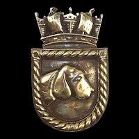 WW2 HMS Searcher Bronze Boats Badge