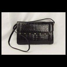 Vintage Catalan Garces Crocodile Skin Handbag