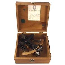 1975 Cased Heath & Company Hezzanith Three Circle Frame Sextant