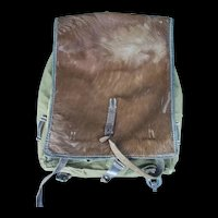 WW2 German Model 1939 Pony Fur Tournister Backpack 1943 Dated