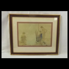 1966 Framed Print of A Watercolour By Sir William Russell Flint – 'An August Morning'