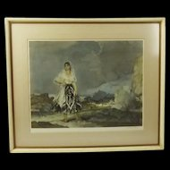 1960 Signed Print Of A Watercolour By William Russell Flint 'Rosalba'