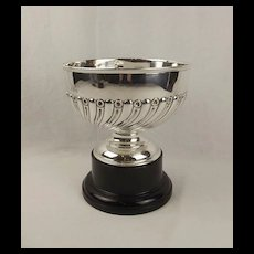 1908 Large Silver Pedestal Bowl On Stand