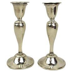 Pair Of Birmingham 1928 Silver Candlesticks