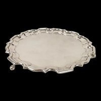 Sheffield 1933 Sterling Silver Footed Salver H.F. & Co