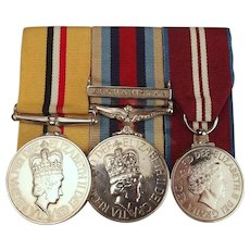 Elizabeth II Iraq & Afghanistan Medal Set Awarded To D.C. Montgomery - Highlanders