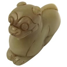 Chinese Ching Dynasty Nephrite Jade Tiger